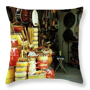 Music Shop Throw Pillow by Rick Piper Photography