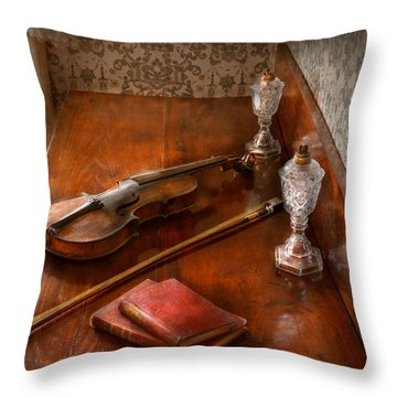 Music - Violin - A Sound Investment  Throw Pillow by Mike Savad