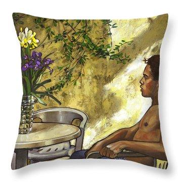 Mustapha's Garden Throw Pillow by Douglas Simonson