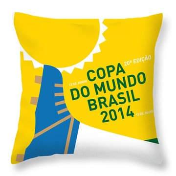 My 2014 World Cup Soccer Brazil - Rio Minimal Poster Throw Pillow by Chungkong Art