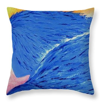 My Angel Throw Pillow by Marianna Mills