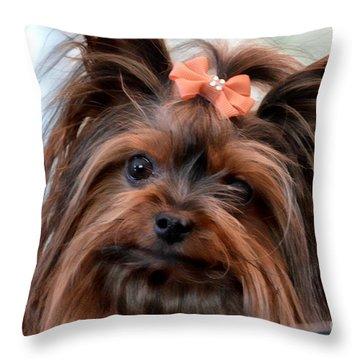 My Beauty Throw Pillow by Gail Bridger