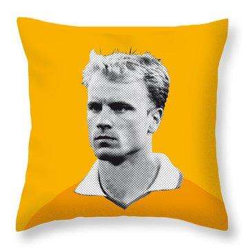 My Bergkamp Soccer Legend Poster Throw Pillow by Chungkong Art