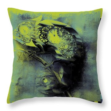 Chameleon - Lime - 01b02 Throw Pillow by Variance Collections