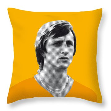My Cruijff Soccer Legend Poster Throw Pillow by Chungkong Art