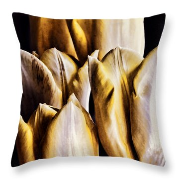 My Favorite Tulips Throw Pillow by Mariola Bitner