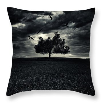 My Friends Throw Pillow by Stelios Kleanthous