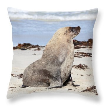 My Good Side Throw Pillow by Mike Dawson