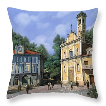 My Home Village Throw Pillow by Guido Borelli