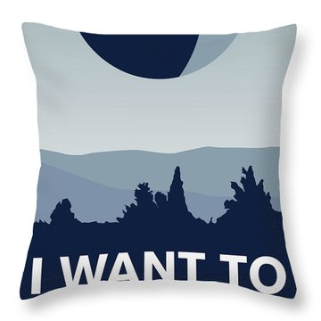 My I Want To Believe Minimal Poster-deathstar Throw Pillow by Chungkong Art