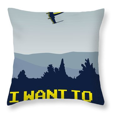 My I Want To Believe Minimal Poster- Xwing Throw Pillow by Chungkong Art