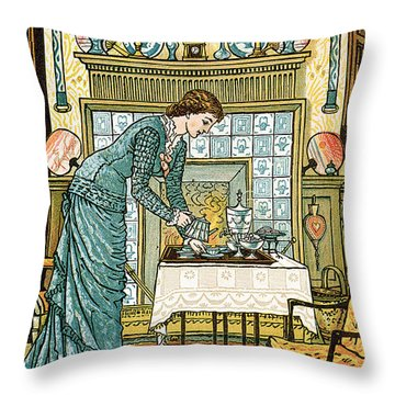 My Lady's Chamber Throw Pillow by Walter Crane