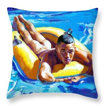 My Little Boat Throw Pillow by Douglas Simonson