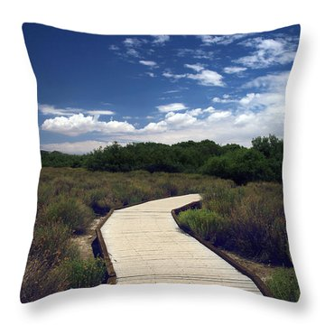 My Mind Wanders Throw Pillow by Laurie Search