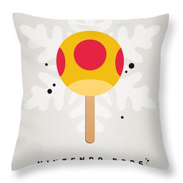 My Nintendo Ice Pop - Mega Mushroom Throw Pillow by Chungkong Art
