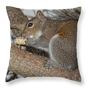 My Peanut Throw Pillow by Deborah Benoit