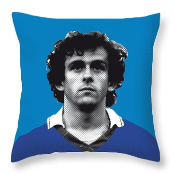My Platini Soccer Legend Poster Throw Pillow by Chungkong Art
