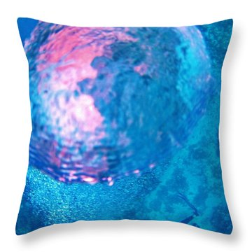 My Reflection In A Divers Bubble Throw Pillow by John Malone