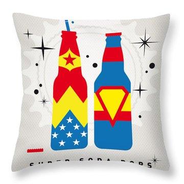 My Super Soda Pops No-06 Throw Pillow by Chungkong Art