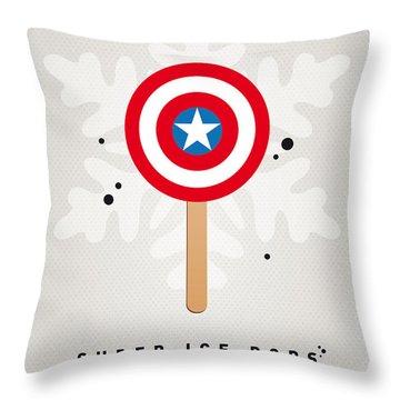 My Superhero Ice Pop - Captain America Throw Pillow by Chungkong Art