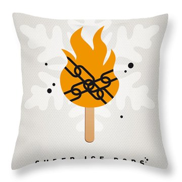My Superhero Ice Pop - Ghost Rider Throw Pillow by Chungkong Art