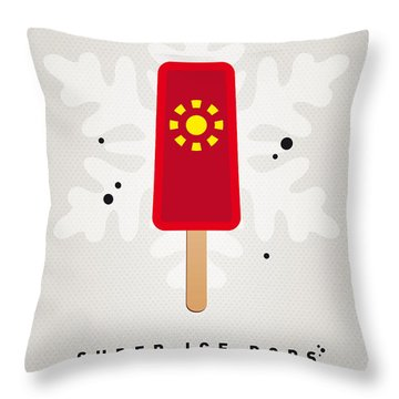 My Superhero Ice Pop - Iron Man Throw Pillow by Chungkong Art