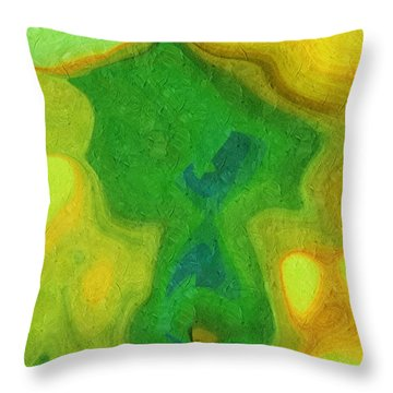My Teddy Bear - Digital Painting - Abstract Throw Pillow by Andee Design