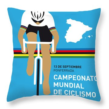 My Uci Road World Championships Minimal Poster 2014 Throw Pillow by Chungkong Art