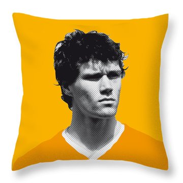 My Van Basten Soccer Legend Poster Throw Pillow by Chungkong Art