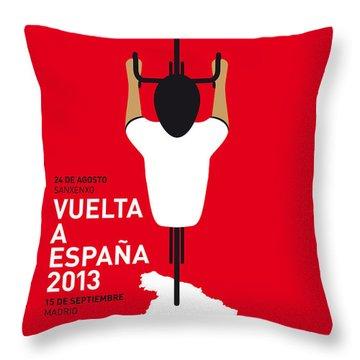 My Vuelta A Espana Minimal Poster - 2013 Throw Pillow by Chungkong Art