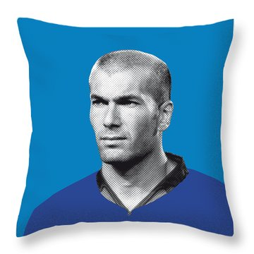 My Zidane Soccer Legend Poster Throw Pillow by Chungkong Art