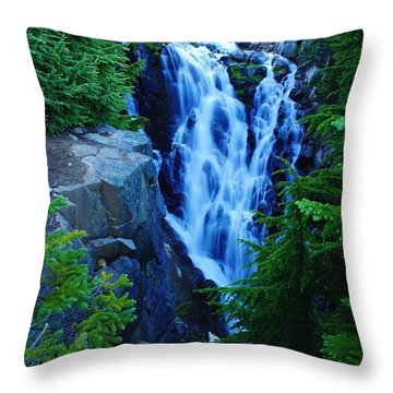 Myrtle Falls Throw Pillow by Jeff Swan