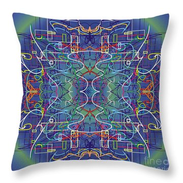 mYSL tHE tHOUGHT Throw Pillow by WouX TheBASSement