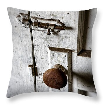 Mystery Door Throw Pillow by Caitlyn  Grasso