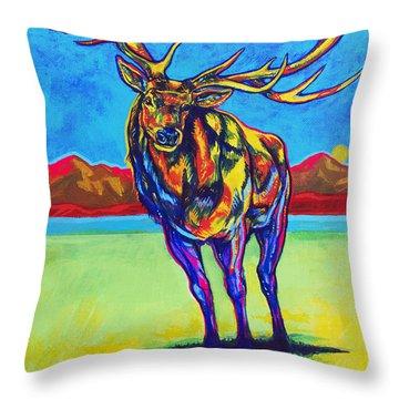 Mythical Elk Throw Pillow by Derrick Higgins