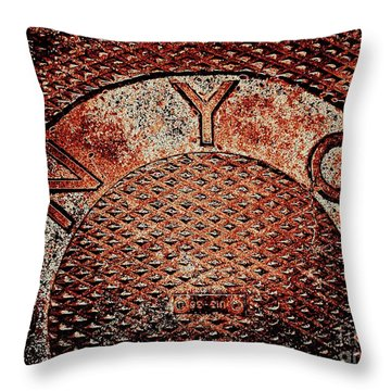 N Y C Throw Pillow by Ed Weidman