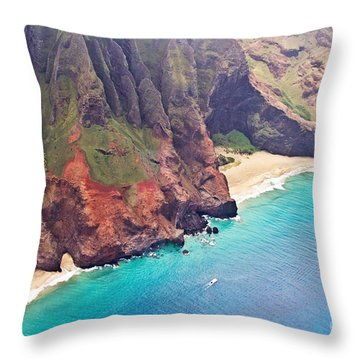 Na Pali Coast Throw Pillow by Scott Pellegrin
