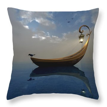 Narcissism Throw Pillow by Cynthia Decker