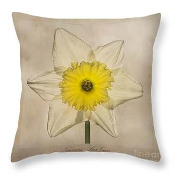 Narcissus Las Vegas Throw Pillow by John Edwards