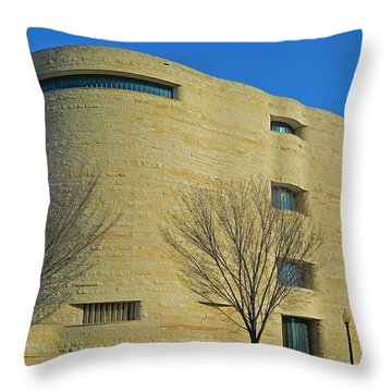 National Museum Of The American Indian Throw Pillow by Emmy Marie Vickers