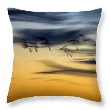 Natural Abstract Art Throw Pillow by Peggy Hughes