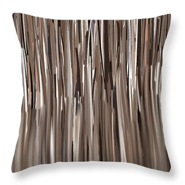 Naturally Brown Throw Pillow by Lourry Legarde