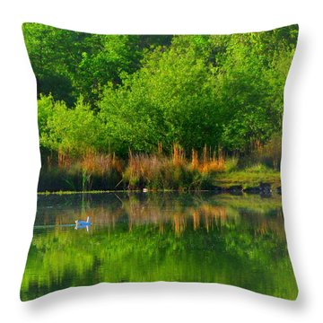 Naturally Reflected Throw Pillow by Joyce Dickens