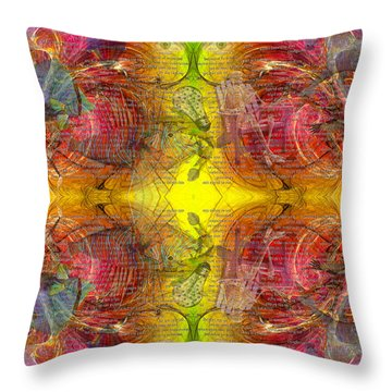 Nature Of Awareness Throw Pillow by Betsy Knapp