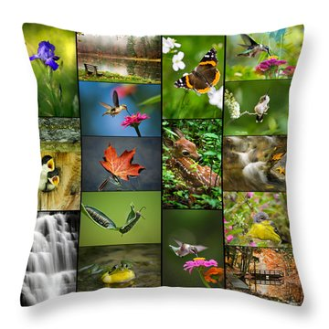 Nature's Finest Throw Pillow by Christina Rollo