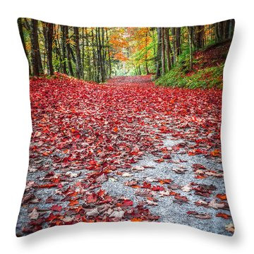 Nature's Red Carpet Throw Pillow by Edward Fielding