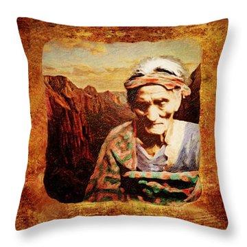 Navajo Triptych  Throw Pillow by Lianne Schneider