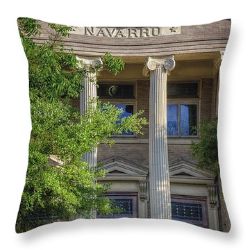 Navarro County Courthouse Throw Pillow by Joan Carroll