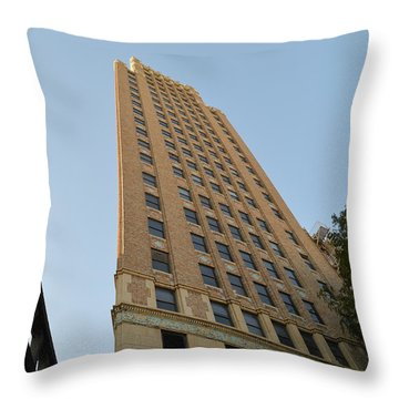 Navarro St Illusion Throw Pillow by Shawn Marlow