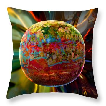 Na'vi Sphere Throw Pillow by Robin Moline